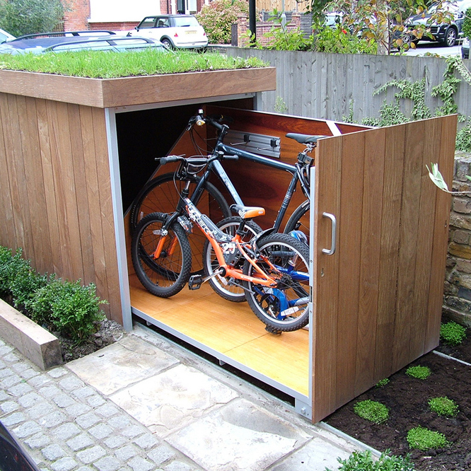 outdoor bike storage bike storage treesaurus 13054