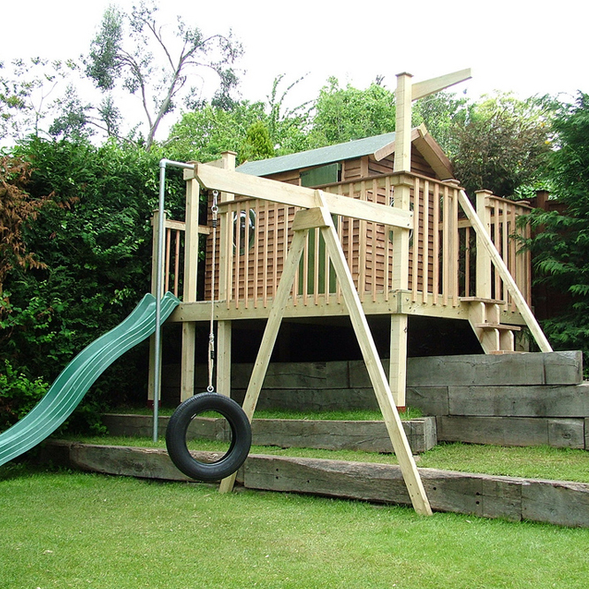 tree houses build climbing frame - treesaurus
